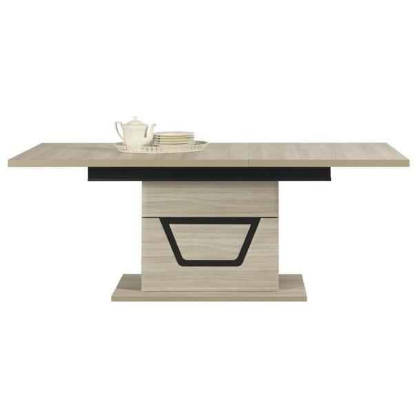 Jídelní stůl BONN jilm matný/černá 3