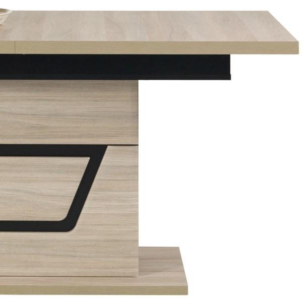 Jídelní stůl BONN jilm matný/černá 4