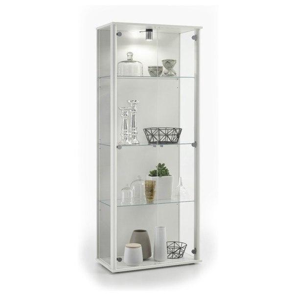 Vitrína BORA 2  bílá/sklo 1