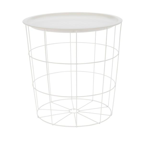 Odkládací stolek  BRIAN bílá 1