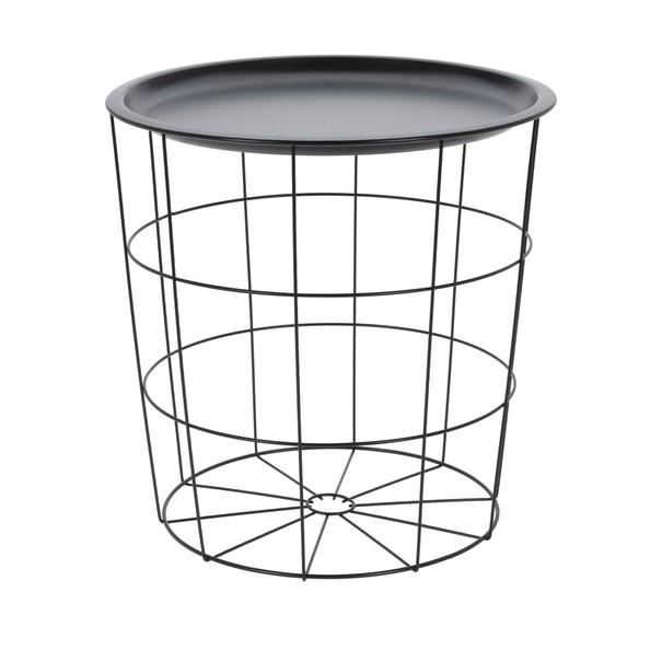 Odkládací stolek  BRIAN černá 1