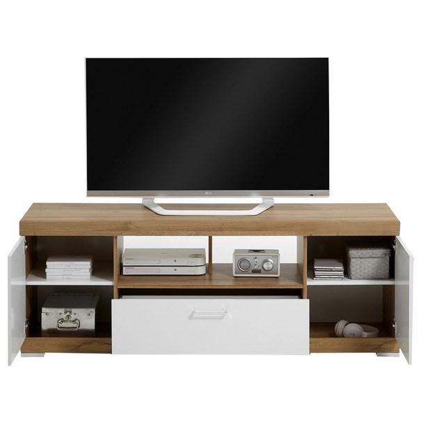 TV stolík BRISTOL II dub/biela 2