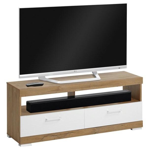 TV stolek BRISTOL dub/bílá 1