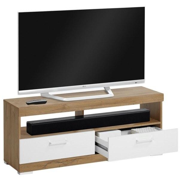 TV stolek BRISTOL dub/bílá 2