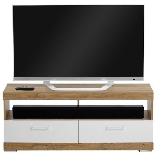 TV stolek BRISTOL dub/bílá 3
