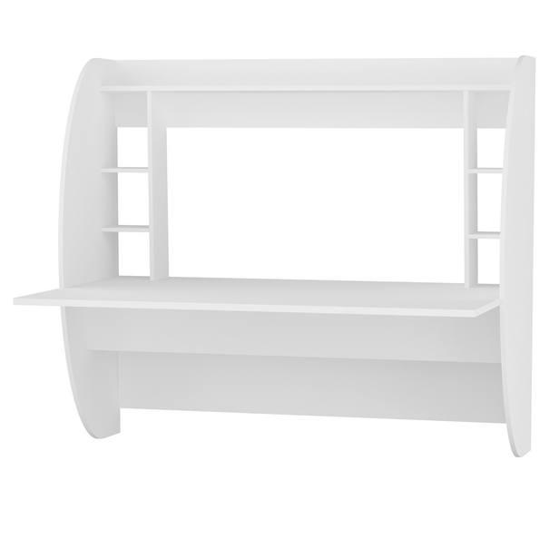 Sconto Nástenný písací stôl BUGLEM biela