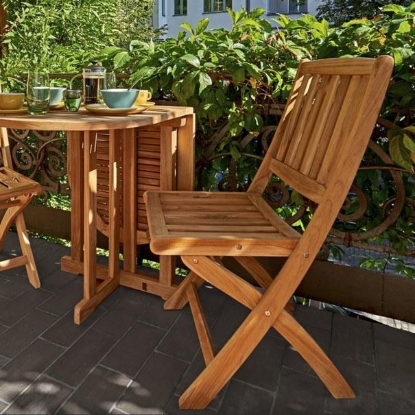 Skládací židle CAMBRIDGE 1 teakové dřevo 2