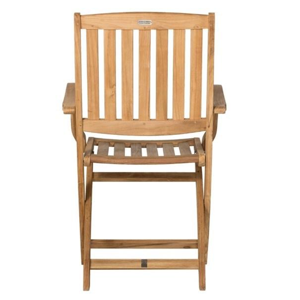 Skládací židle s područkami CAMBRIDGE 2 teakové dřevo 4