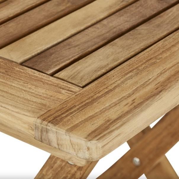 Skládací židle s područkami CAMBRIDGE 2 teakové dřevo 6