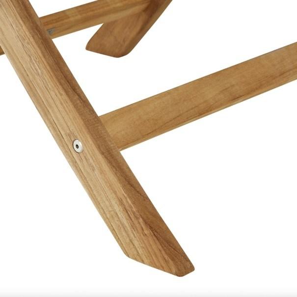 Skládací židle s područkami CAMBRIDGE 2 teakové dřevo 7