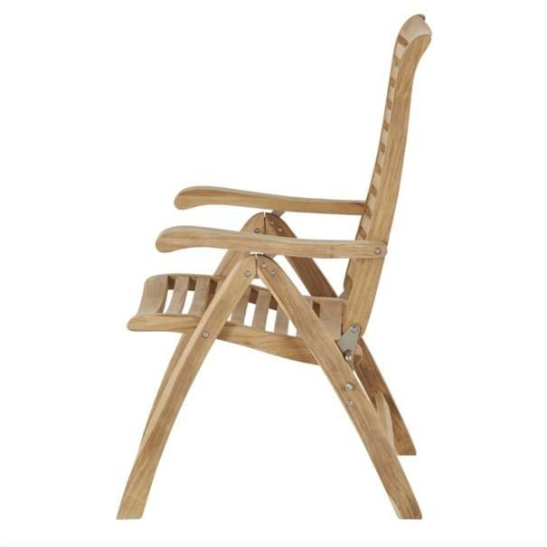 Polohovací židle  CAMBRIDGE PREMIUM teakové dřevo 5