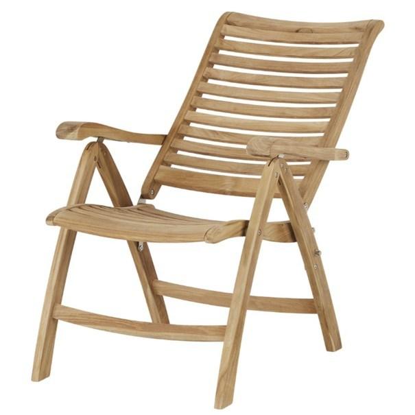 Polohovací židle  CAMBRIDGE PREMIUM teakové dřevo 6