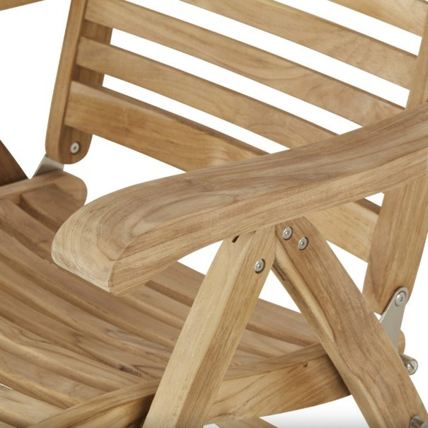 Polohovací židle  CAMBRIDGE PREMIUM teakové dřevo 7