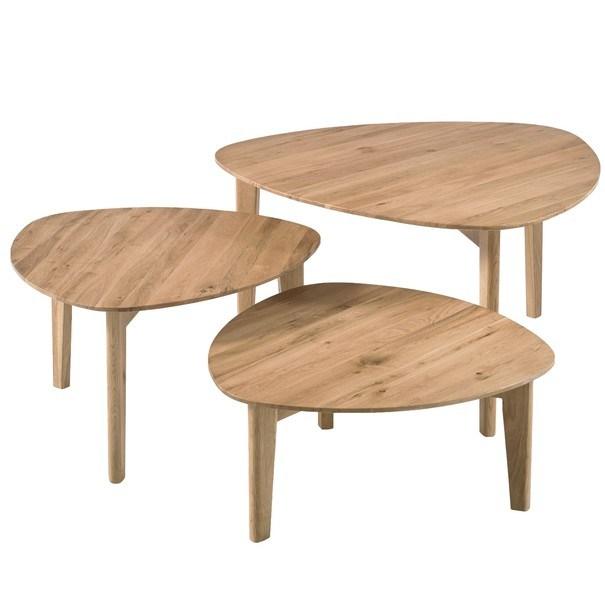 Prístavný stolík CAMILA sada 3 ks 1