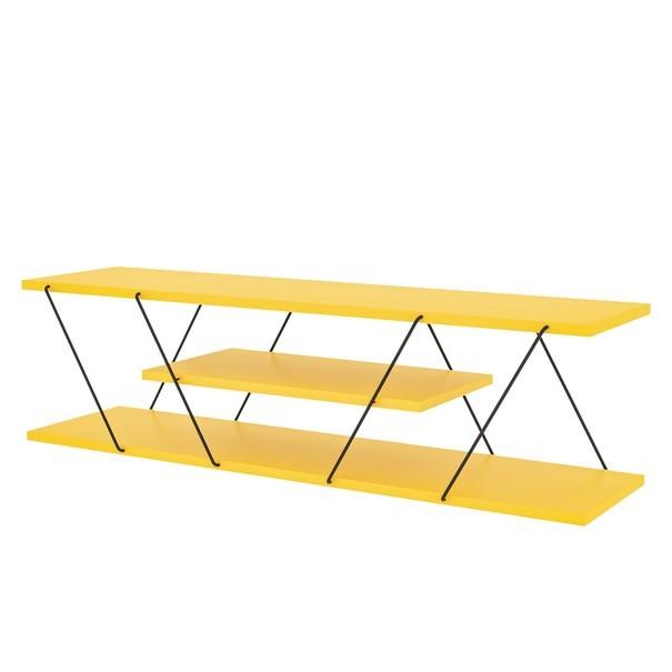Sconto TV stolík CANAZ žltá/čierna