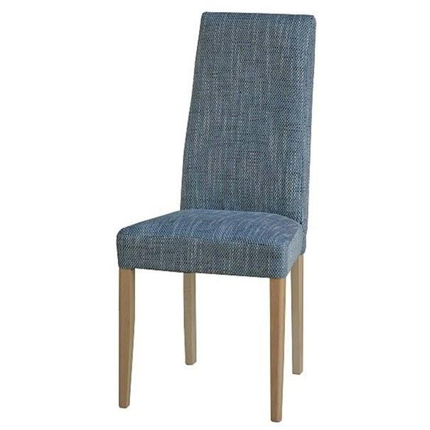 Jedálenská stolička CAPRICE buk/sivá 1