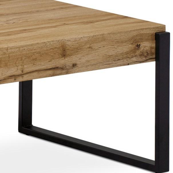 Konferenční stolek CARLITO dub divoký/černá 3