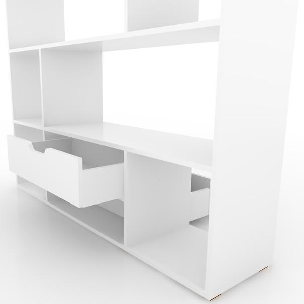 Regál/knihovna CARUSO bílá 3