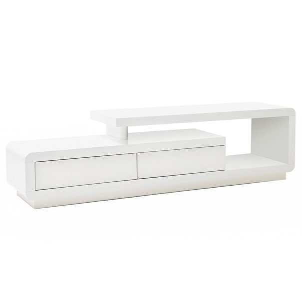 TV stolek CEDRIK bílá vysoký lesk 1