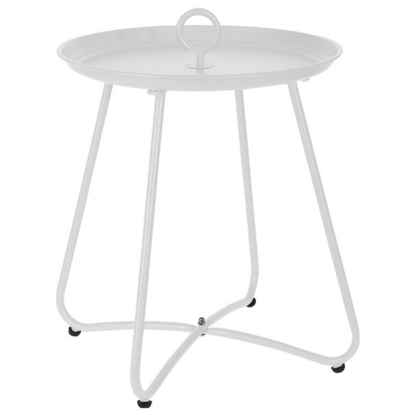 Prístavný stolík CÉVIE biela 1
