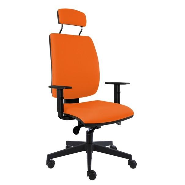 Sconto Kancelárska stolička CHARLES oranžová.
