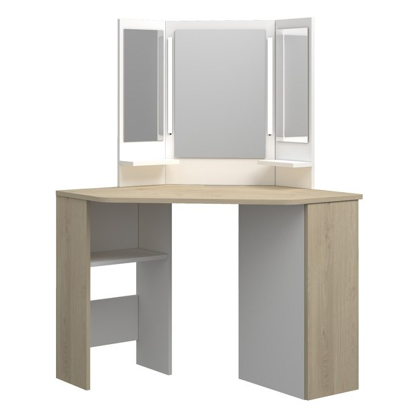 Sconto Toaletní stolek CHIC dub/bílá - nábytek SCONTO nábytek.cz