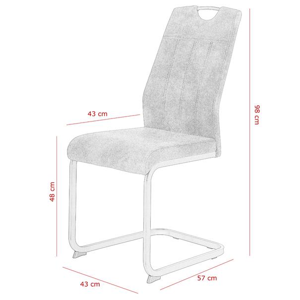 Jedálenská stolička CHRISTINA II sivá 7