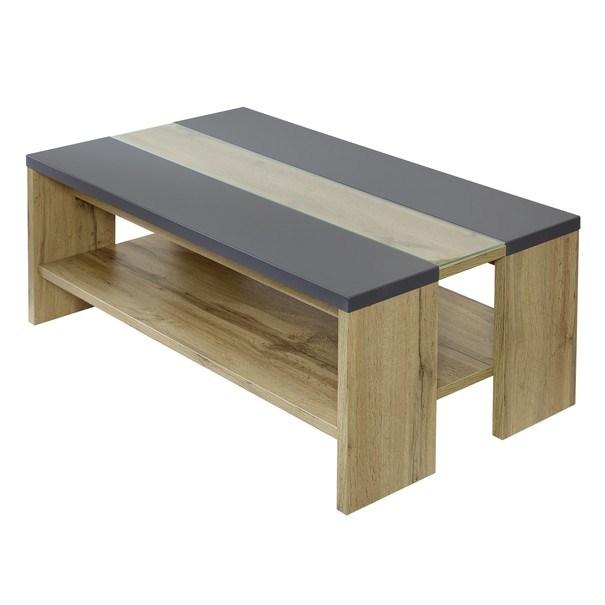 Sconto Konferenční stolek CIRCLE LINE dub/grafit matný - nábytek SCONTO nábytek.cz