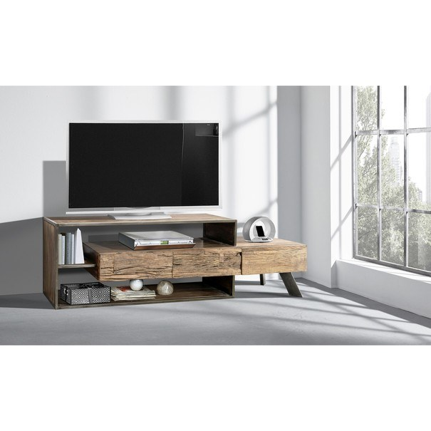 TV stolek CITY přírodní akácie/šedá 2