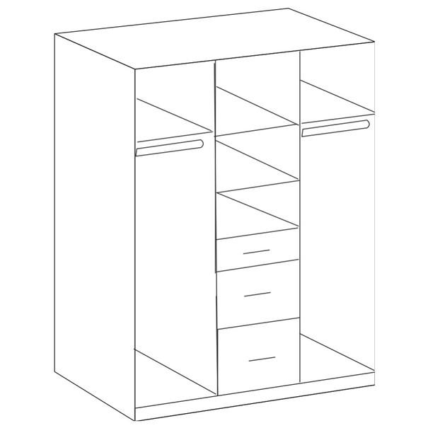 Šatní skříň CLICK 625 dub sägerau/bílá 3