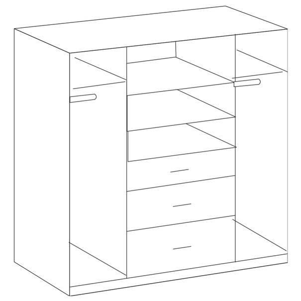 Šatní skříň CLICK 626 dub sägerau/bílá 3