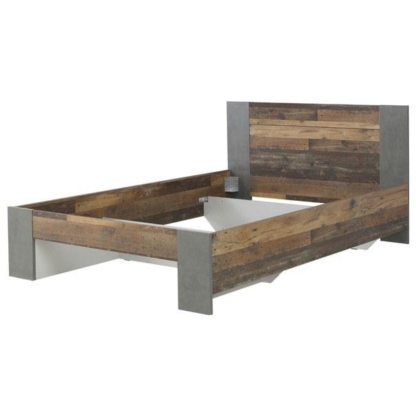 Sconto Postel CLIF staré dřevo/šedá, 140x200 cm - nábytek SCONTOnábytek.cz