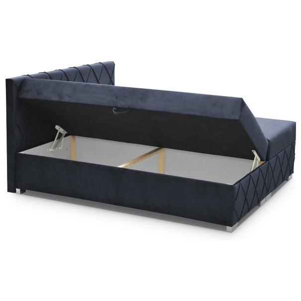 Postel CLOE tmavě modrá, 180x200 cm 4