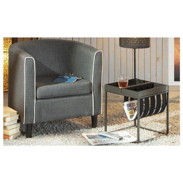 Přístavný stolek CLUB NY antracitová 2