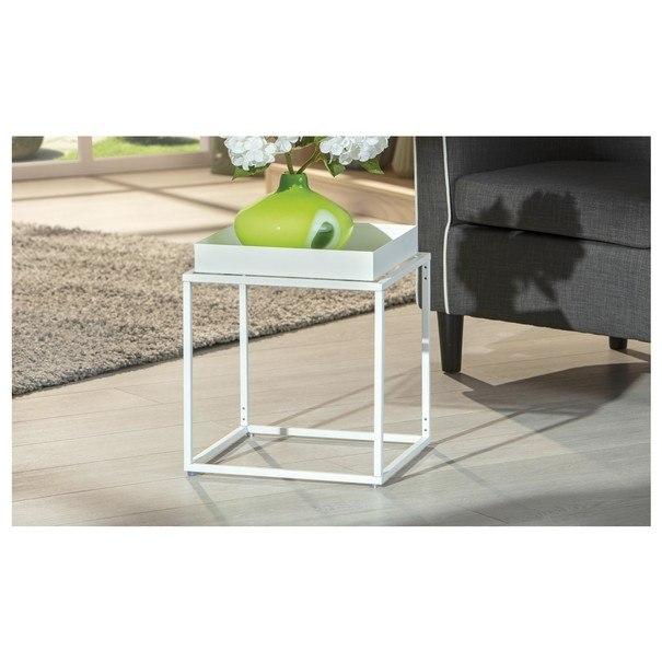 Přístavný stolek CLUB NY bílá 2