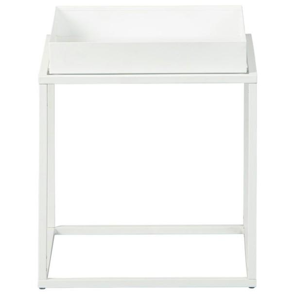 Přístavný stolek CLUB NY bílá 3