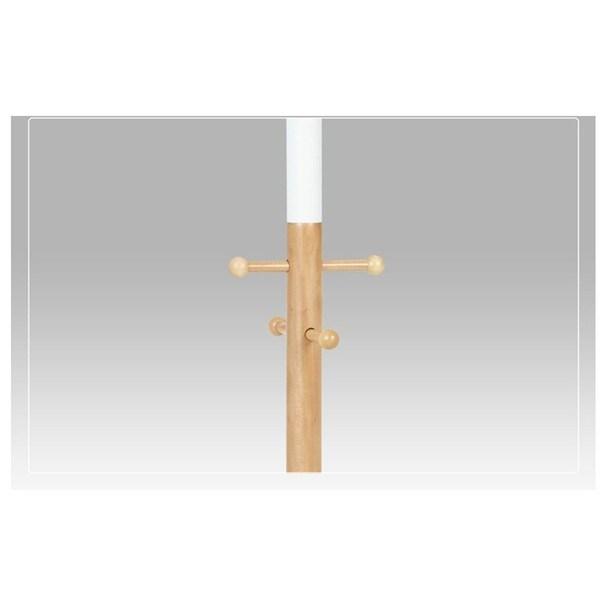 Stojanový věšák COMBI   bílá/dřevo 2