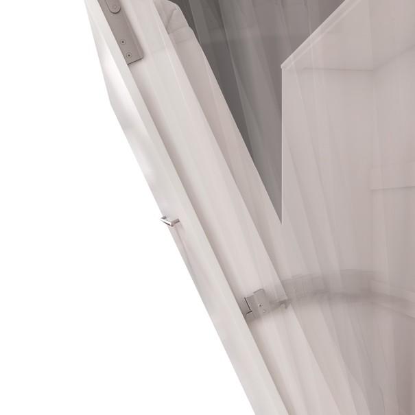 Výklopná postel CONCEPT PRO CP-04 bílá matná, 140x200 cm, horizontální 5