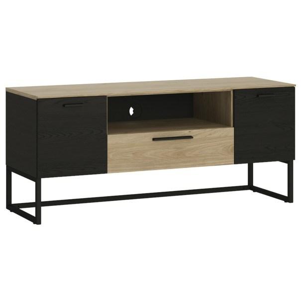 TV stolek CORDOBA dub jackson hickory/černá 1