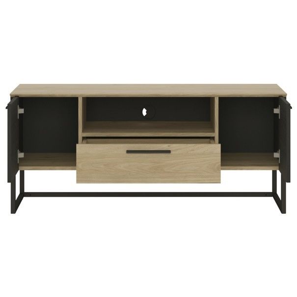 TV stolek CORDOBA dub jackson hickory/černá 2