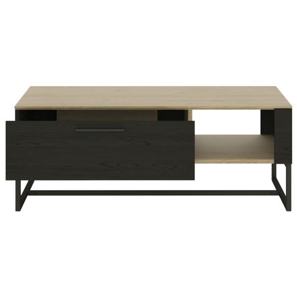 Konferenční stolek CORDOBA dub jackson hickory/černá 2