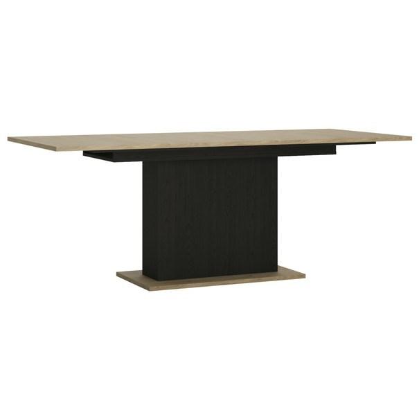 Jídelní stůl CORDOBA dub jackson hickory/černá 2