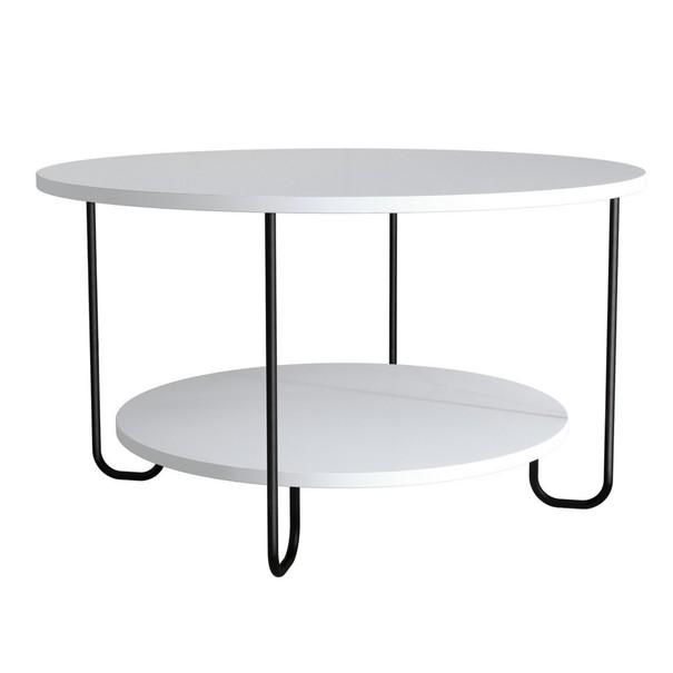 Sconto Konferenční stolek CORRO bílá - nábytek SCONTOnábytek.cz