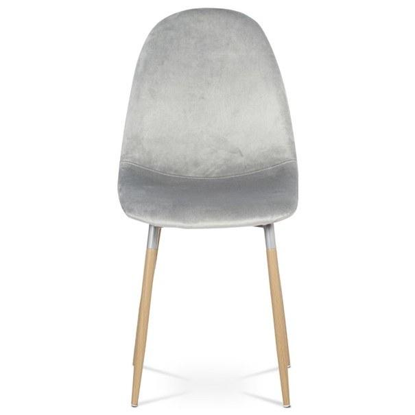 Jídelní židle COURTNEY stříbrná/buk 2