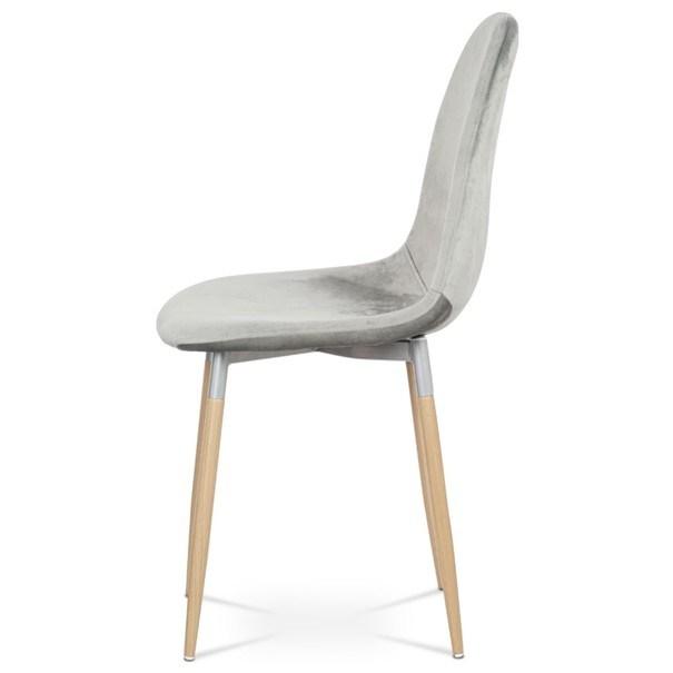 Jídelní židle COURTNEY stříbrná/buk 3