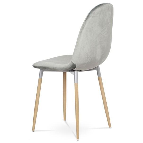 Jídelní židle COURTNEY stříbrná/buk 4