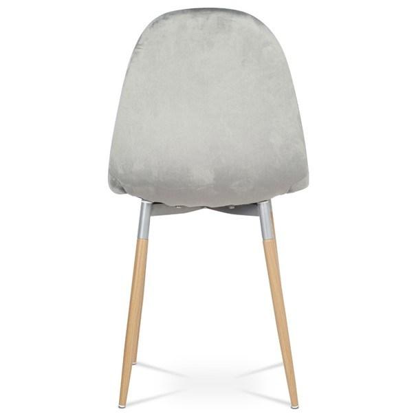 Jídelní židle COURTNEY stříbrná/buk 5