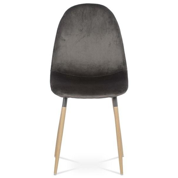 Jedálenská stolička COURTNEY sivá/buk 3