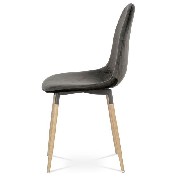 Jedálenská stolička COURTNEY sivá/buk 4