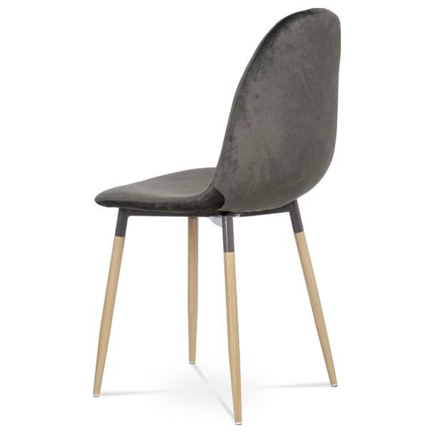 Jedálenská stolička COURTNEY sivá/buk 5